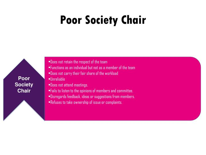 Poor Society Chair