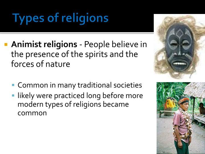 Types of religions