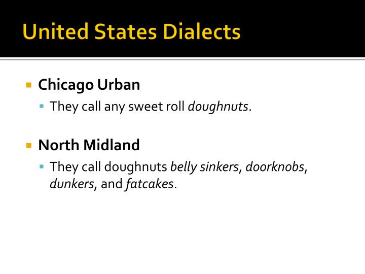 United States Dialects