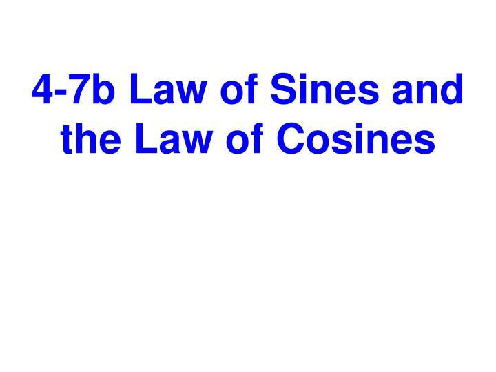 4-7b Law of