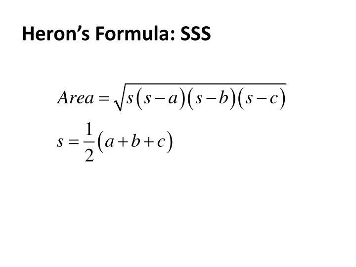 Heron's Formula: SSS