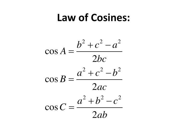 Law of Cosines: