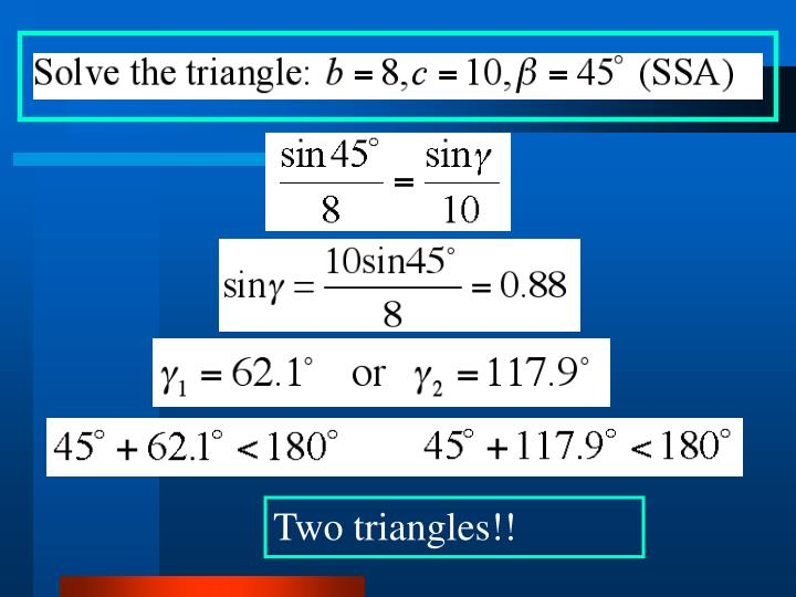Two triangles!!