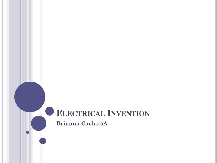 electrical invention