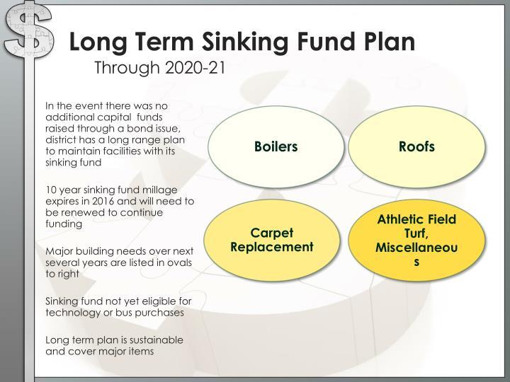 Long Term Sinking Fund Plan