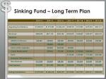 sinking fund long term plan