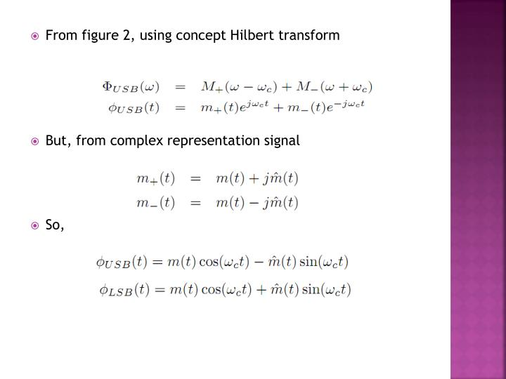 From figure 2, using concept Hilbert transform