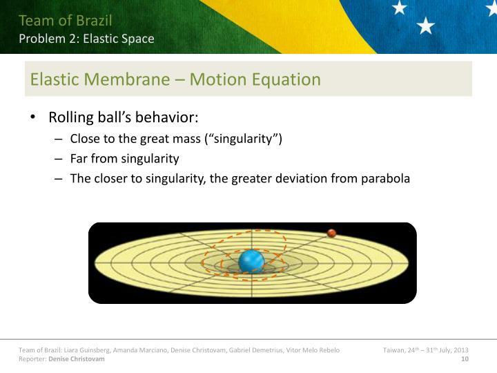 Elastic Membrane – Motion Equation