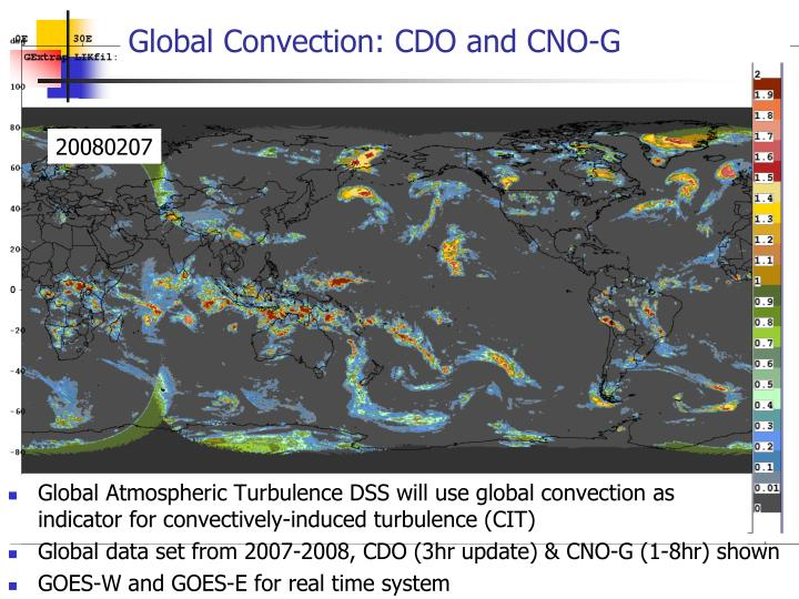 Global Convection: CDO and CNO-G