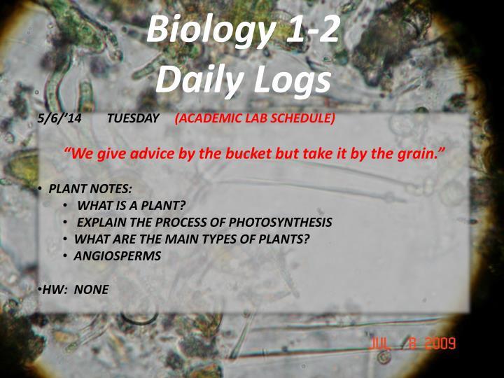 Biology 1-2