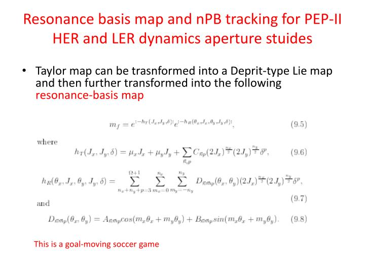 Resonance basis map and