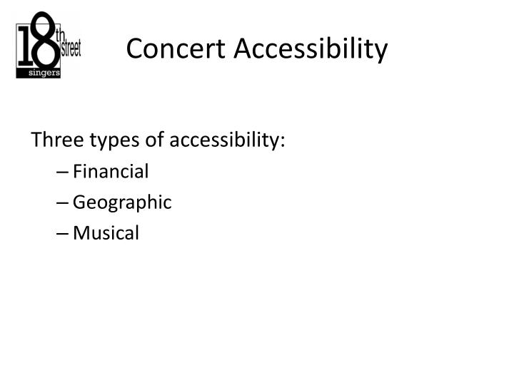 Concert Accessibility