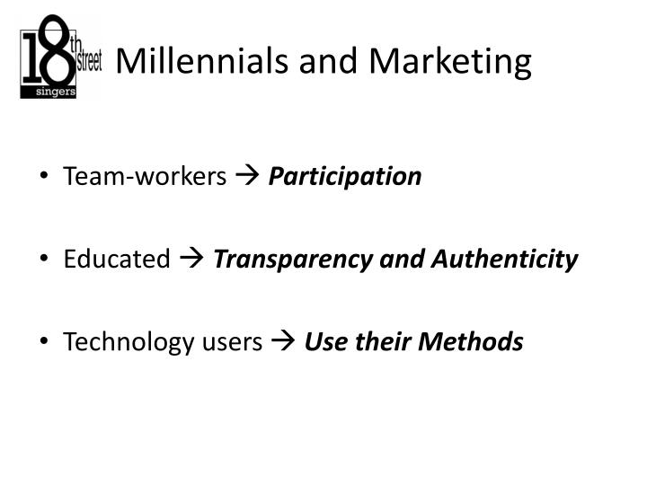 Millennials and Marketing