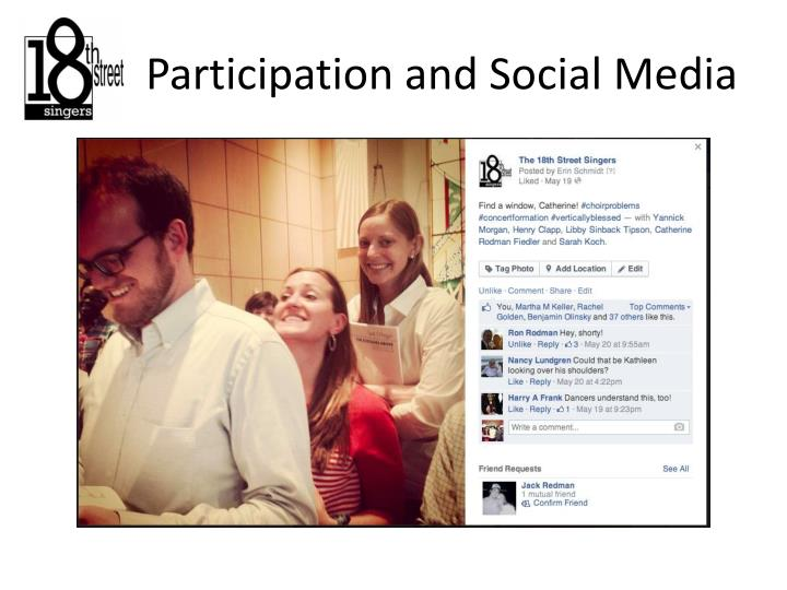 Participation and Social Media