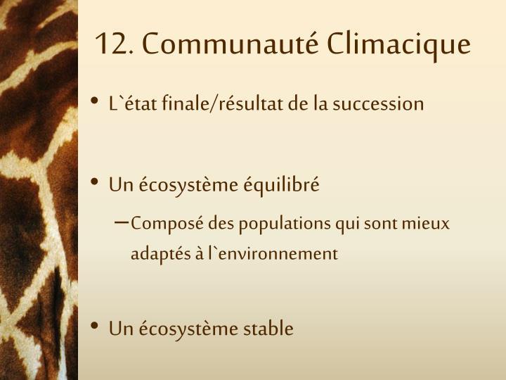 12. Communauté Climacique