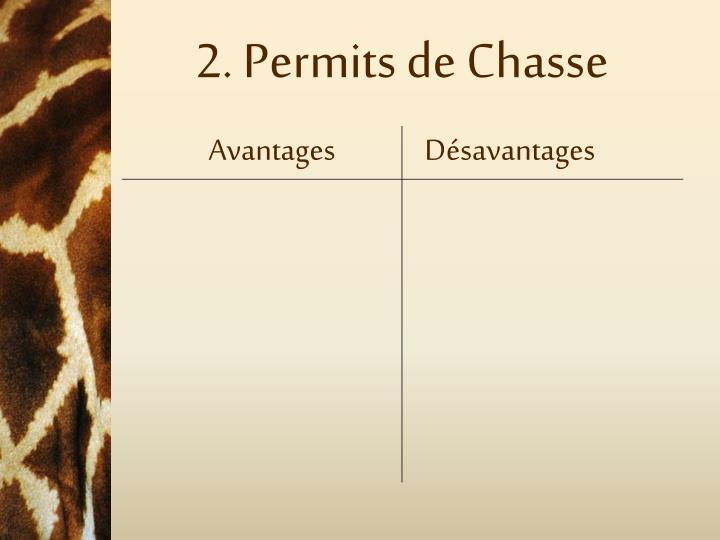 2. Permits de Chasse