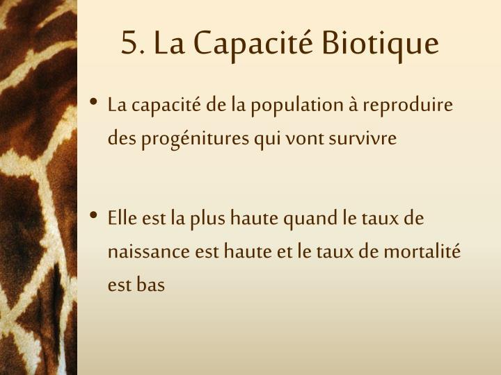 5. La Capacité Biotique