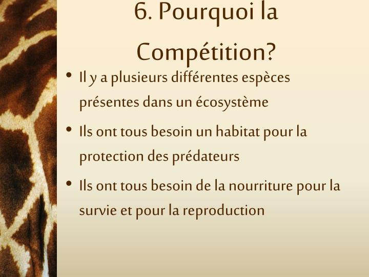 6. Pourquoi la Compétition?