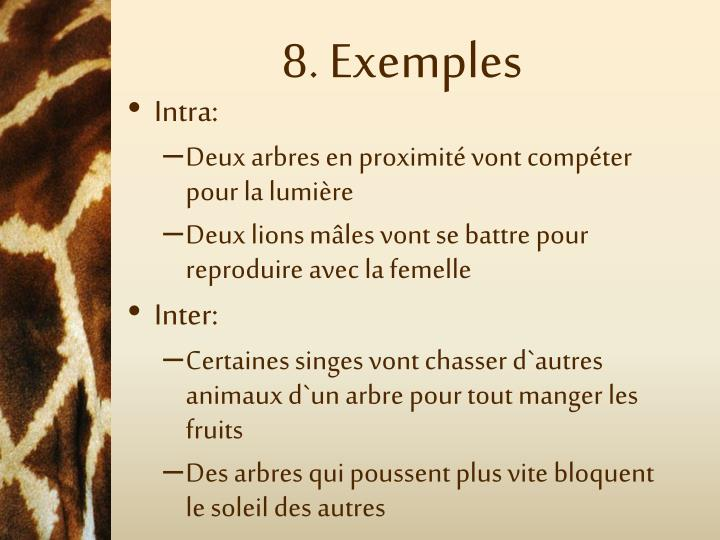 8. Exemples