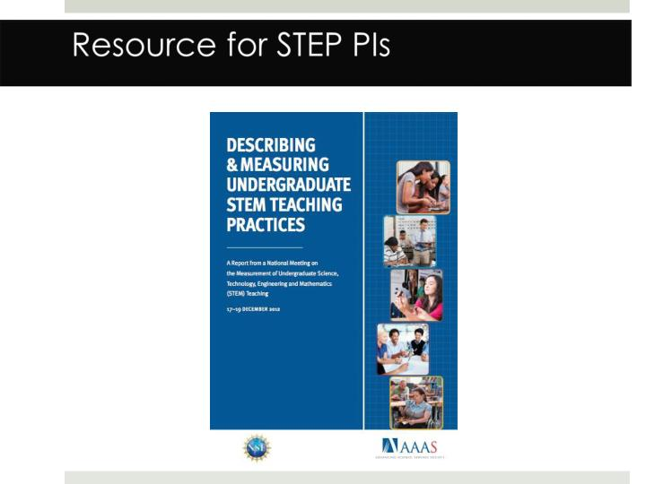 Resource for STEP PIs