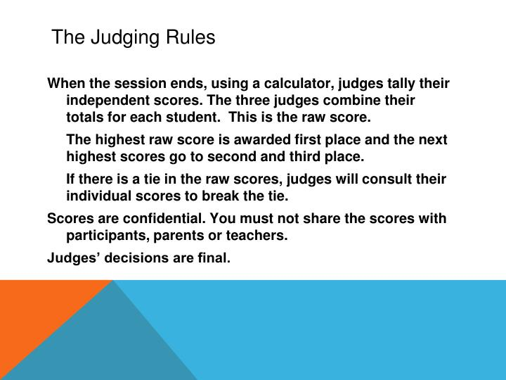 The Judging Rules