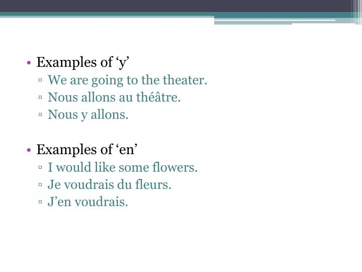 Examples of 'y'