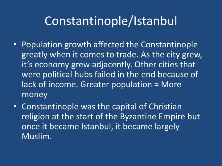 Constantinople/Istanbul