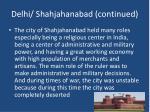 delhi shahjahanabad continued