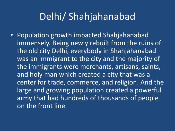 Delhi/ Shahjahanabad