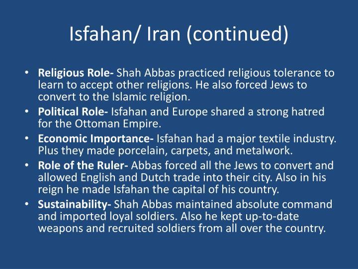 Isfahan/ Iran (continued)