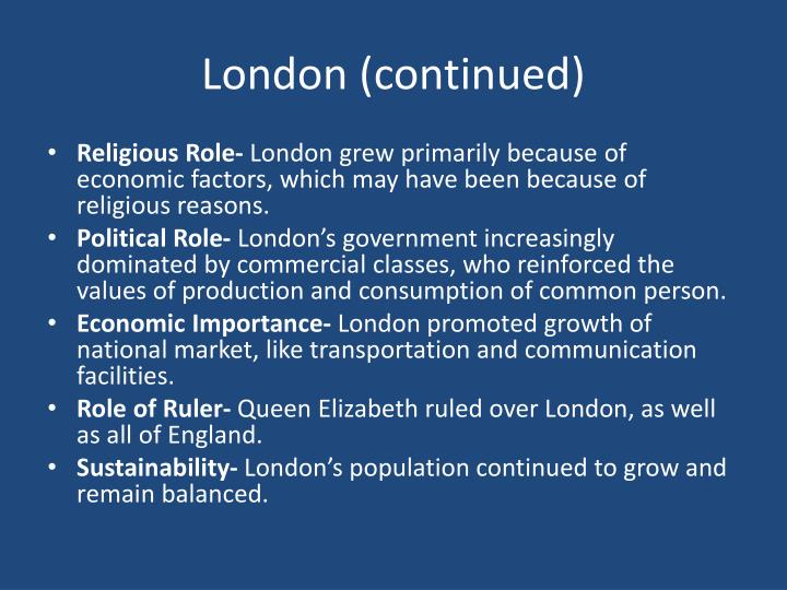 London (continued)