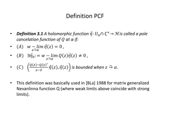 Definition PCF