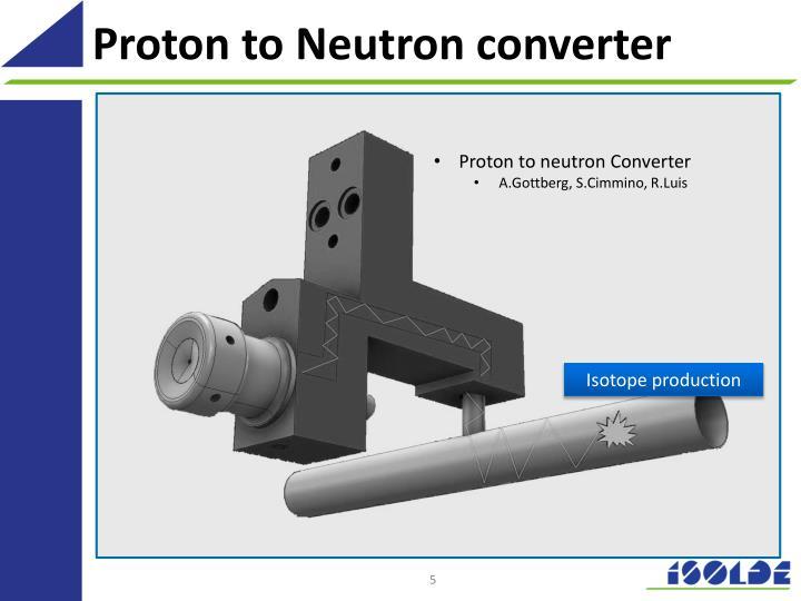 Proton to Neutron converter