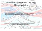 the silent generation defining characteristics