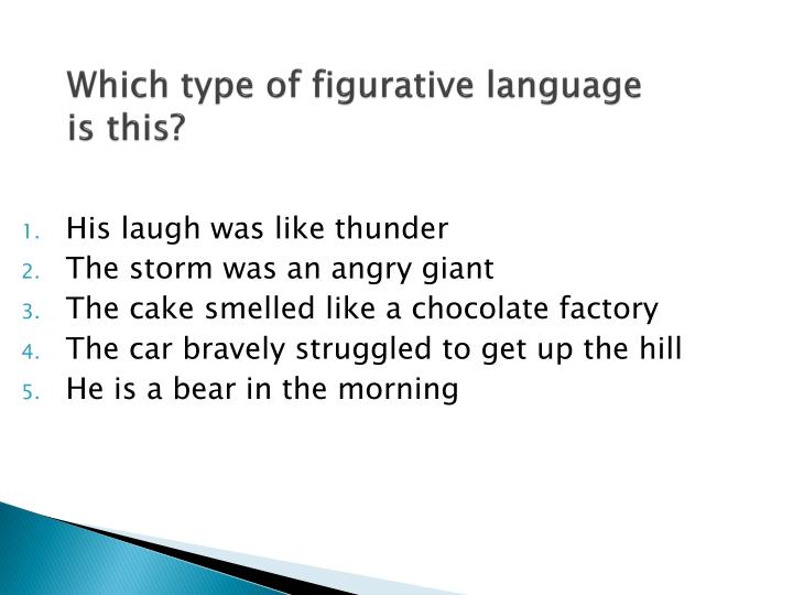Which type of figurative language is this?