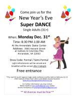come join us for the new year s eve super dance single adults 31