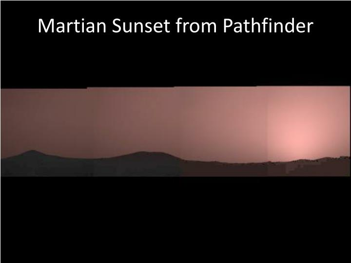 Martian Sunset from Pathfinder