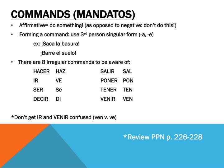 Commands (