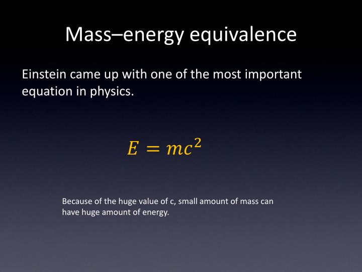 Mass–energy