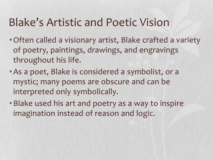 Blake's Artistic and Poetic Vision