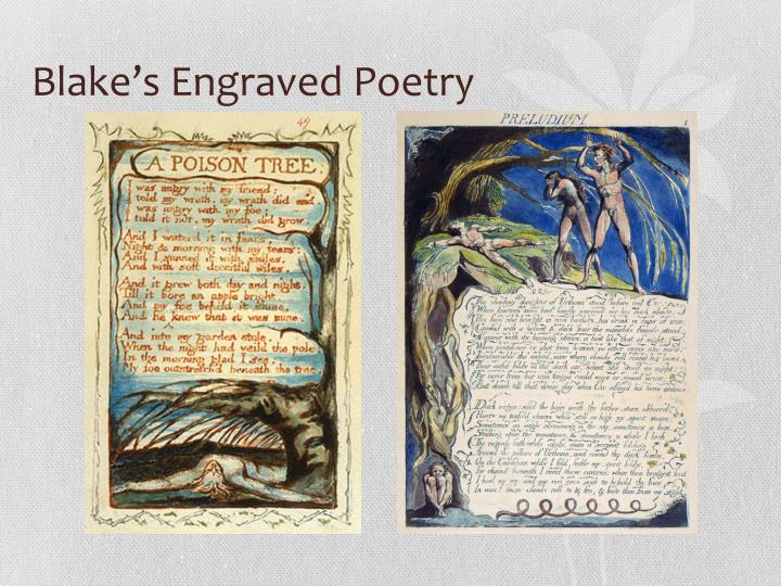 Blake's Engraved Poetry