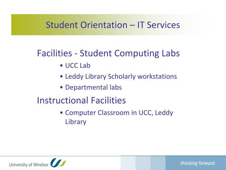 Student Orientation –