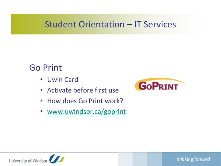 Student Orientation – IT Services