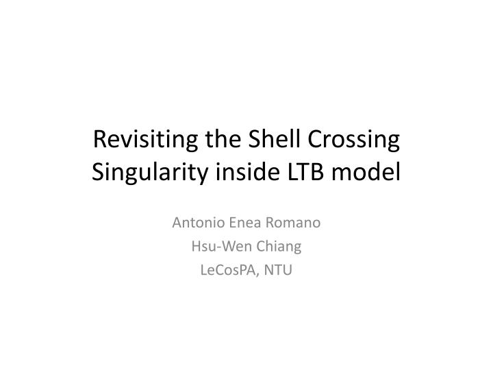 Revisiting the shell crossing singularity inside ltb model