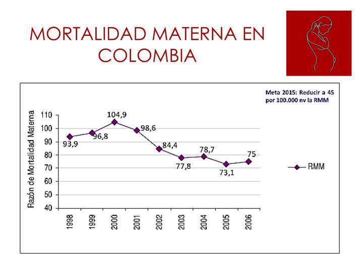 MORTALIDAD MATERNA EN COLOMBIA