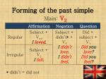 forming of the past simple