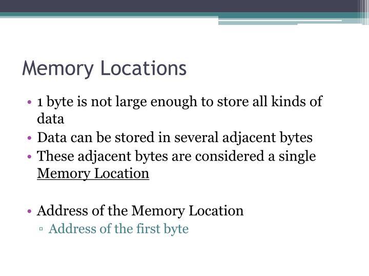 Memory Locations