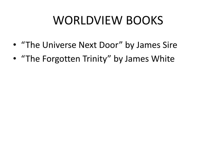 WORLDVIEW BOOKS