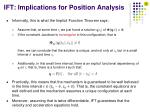 ift implications for position analysis