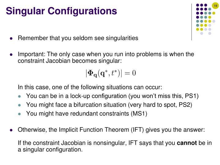 Singular Configurations